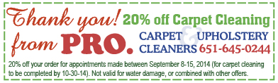 September 2014 Carpet Cleaning Coupon Minneapolis St Paul MN