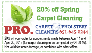 Carpet Cleaning Coupon, Minneapolis Saint Paul MN 2016